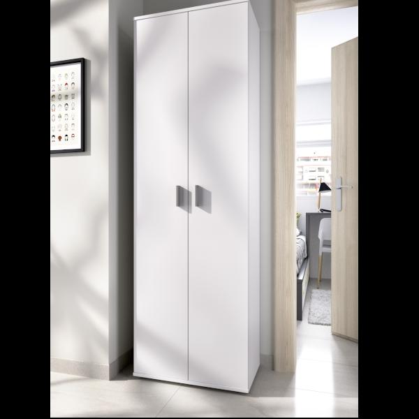 armario multiusos fit 2 puertas batientes con estantes interiores