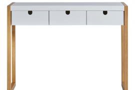 Consola recibidor square acabado blanco combinado roble