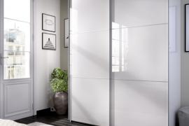 Armario SLIDE 2 puertas correderas 150 cms ancho acabado blanco brillo