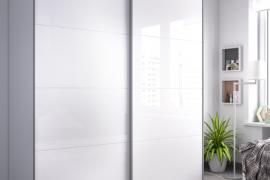 Armario Slide 2 puertas correderas 180 cms acabado blanco brillo. Programa DEKIT del Grupo Rimobel