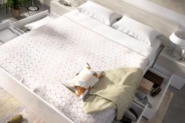 cama 4 cajones Alice acabado blanco brillo