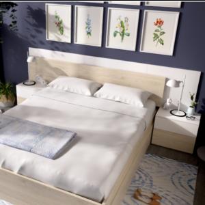 Dormitorio Alice blanco brillo