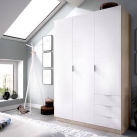 Armario Essen natural-blanco 3 puertas 3 cajones DEKIT del Grupo Rimobel