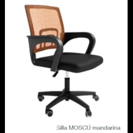 Silla escritorio Moscú mandarina