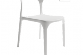 Silla Pisa acabado blanco fabricada en polipropileno