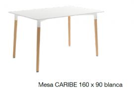 Mesa de comedor con tapa blanca 160x90