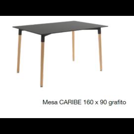 Mesa de comedor con tapa grafito 160*90
