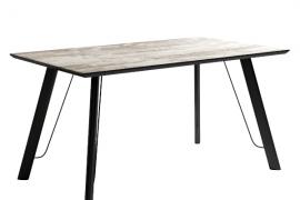 Mesa comedor vintage modelo caspio de estructura metálica negra y sobre biselado