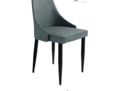 Silla tapizada Paris plomo con patas metalicas color negro