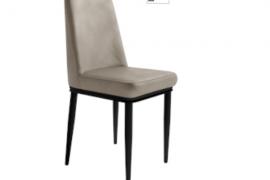 Silla Oslo beige con patas metálicas color negro