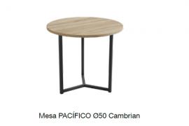 Mesa centro pacifico 50 cambrian con estructura metalica negra
