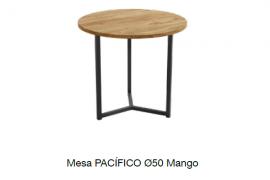 Mesa centro pacifico 50 mango con estructura metalica negra