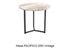 Mesa centro pacifico 50 vintage con estructura metalica negra