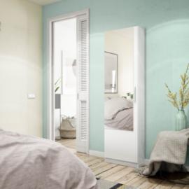 Zapatero una puerta con espejo acabajo blanco artik