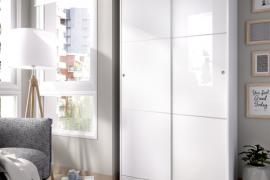 Armario 2 puertas slide plus color blanco brillo del programa DEKIT del Grupo Rimobel