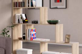 estanteria decorativa Mulk Plus Roble Canadian, tipo escalera