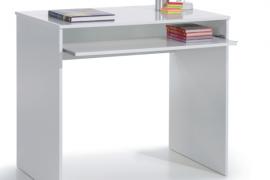 mesa escritorio blanco artik modelo I-joy del programa Kids con bandeja extraible