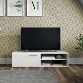 Mueble Tv Althea una puerta un estante acabado blanco brillo