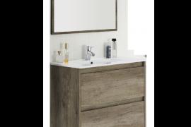 Mueble de baño 2 cajones con espejo y lavabo Nordik-ambiente