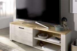 Módulo TV Siena acabado Fines combinado con el color Milano