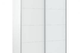 Armario Arya blanco artik con dos puertas correderas. Medida total 150 cm ancho
