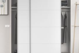 armario blanco brillo 2 puertas correderas