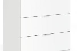 comoda low cost tres cajones acabado blanco