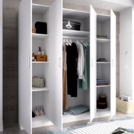 Armario Maxi 4 puertas blanco con estantes interiores