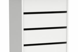 Cajonera interior Turín para armario acabado blanco alto brillo de Muebles Pitarch