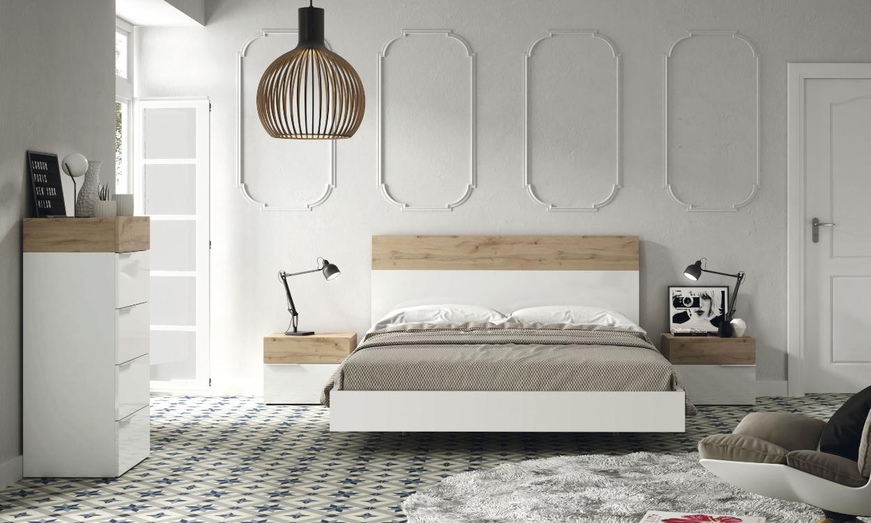 Dormitorio Aura acabado lacado blanco de Muebles Ramis