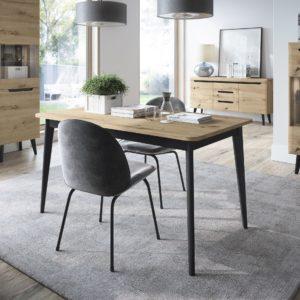 Mesa comedor extensible Natural Wood