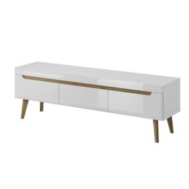 Mueble bajo TV 160 Clear Light-Blanco brillo-artisan de Konektashops