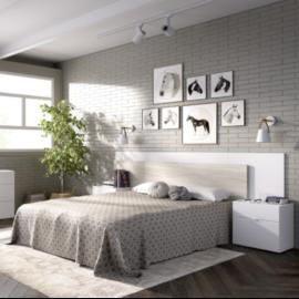 Dormitorio Alice blanco gris programa DEKIT del Grupo Rimobel