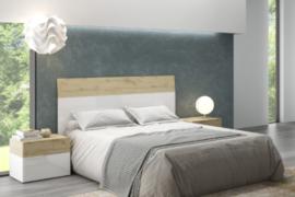 Dormitorio Aura 135 cabezal con 2 mesitas 2 cajones