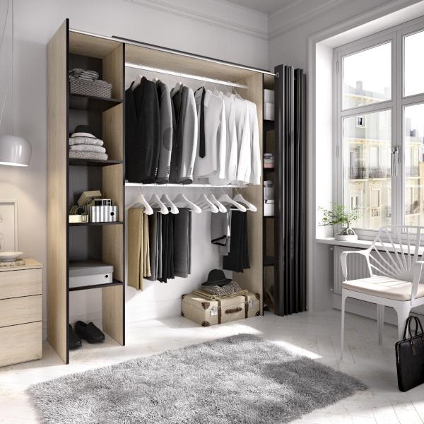Armario vestidor Suit con cortina